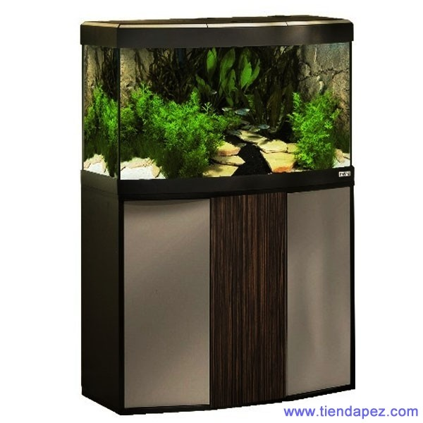 acuario fluval vicenza 260 negro plata zebrino con mesa. Black Bedroom Furniture Sets. Home Design Ideas